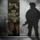 Kinderbehang paneel legerkamer camouflage