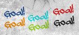 Voetbal Goal behang paneel met naam_