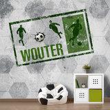 Voetbal behasng groen kinderkamer voetbalkamer