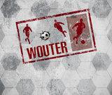 Voetbal behang rood grijs