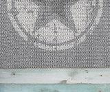 behang ster mint grijs detail