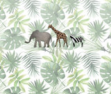 Jungle dieren fotobehang