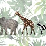 Jungle dieren behang detail