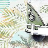 behang kinderkamer retro detail volkswagen met eigen naam