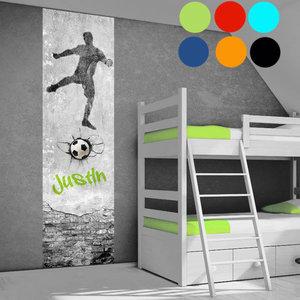 Voetbal Goal behang paneel met naam